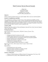 Sample Csr Resume by Retail Customer Service Resume Resume For Your Job Application