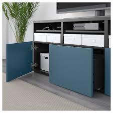 Ikea Besta Glass Doors by Bestå Tv Storage Combination Glass Doors Black Brown Valviken Dark