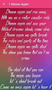 dhoom 2 songs lyrics android apps on play