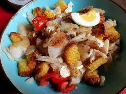cuisiner la morue recettes de salade de morue