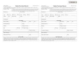 Auto Dealer Bill Of Sale Template by Firearm Bill Sale Car Uber Home Decor 20998