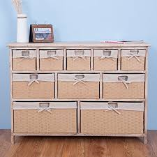 Bathroom Basket Drawers Life Carver Fully Assembled 10 Drawer Baskets Wide Functional