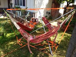 Diy Portable Hammock Stand 3 Person Hammock Stand We Made 6 2013 Hammocks Pinterest
