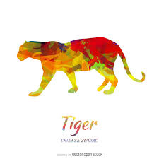 zodiac tiger drawing vector