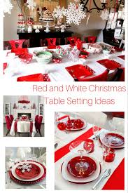 Christmas Table Cloths by Red And White Christmas Table Setting Ideas Hip Who Rae