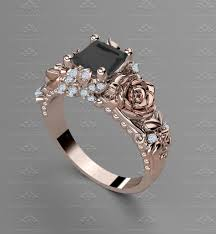 black gold engagement ring rosa 1 20ct gold engagement ring