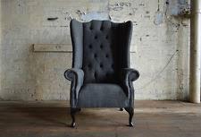 High Back Armchair Chesterfield High Back Chair Armchairs Ebay