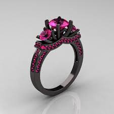 Wedding Rings Women by Black Wedding Rings For Women With Gothic Style Rikof Com