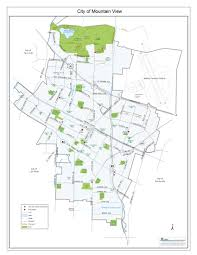 Arizona City Map by City Of Mountain View City Map