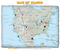 Map Of Mountains In United States by Hunger Games Lessons My Updated Map Of Panem The Hunger Games