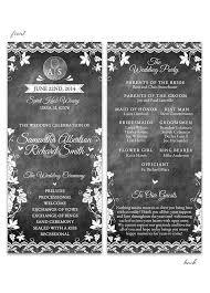 chalkboard wedding programs wedding programs archives lot paperie