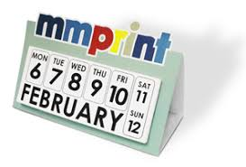 Desk Calendar Custom Die Cut Desk Calendars Custom Shape Day Counters Mmprint