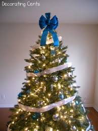 Christmas Decorations With Blue And Silver by Decorating Cents Blue And Silver Christmas Tree