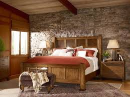 Beadboard Walls And Ceiling by Rustic Bedroom Wall Decor Simple Square Brown Wood Nightstand