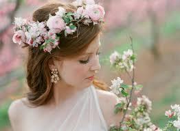 hair wreath pink floral bridal hair wreath elizabeth designs the