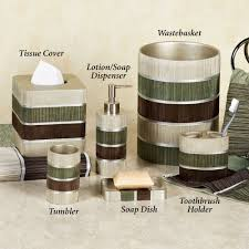 bathroom set ideas modern line striped bath accessories