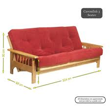 furniture 3 seater folding red futon wooden couch bed design for
