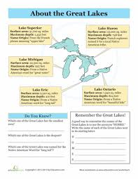 the great lakes great lakes the great and worksheets