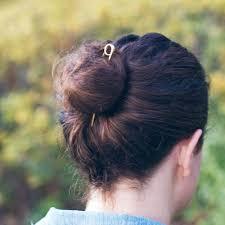 hair pin loop brass hair pin bun pin topknot holder 4 and 5 inch