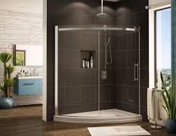 bathroom glass shower door with walk in shower kits and rain