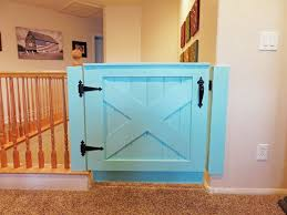 Baby Gate For Banister And Wall Barn Door Baby Gate 10 Steps With Pictures