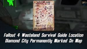 Fallout 4 Map With Locations by Fallout 4 Wasteland Survival Guide Location Diamond City