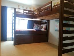 Tri Bunk Beds Uk Gorgeous Regard To Pottery Barn Bunk Beds Along With Bedding