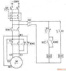 component phase motor control diagram connecting motors for a pole