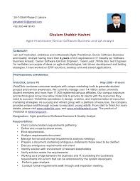 Sample Resume For Software Tester by Erp Resume Format