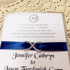 navy blue satin ribbon modern sapphire blue satin ribbon rhinestone layered wedding