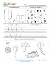 abc worksheets letter u alphabet worksheets a awellspring