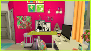 the sims 4 colourful teen bedroom cc youtube