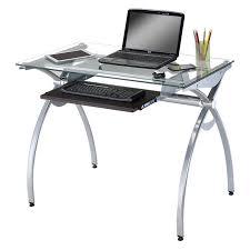 Metal Computer Desks Bello Glass Top Computer Desk High Gloss Black Hayneedle