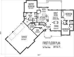 2500 sq ft house ranch house floor plans with angled garage 2500 sq ft bungalow 3 bedroom