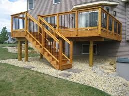 Stair Handrail Ideas Landscape Design How To Build Deck Stair Railings Install