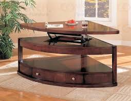 coffee table with lift top mechanism and storage drawer in wenge