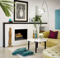 los angeles painting fireplace surround living room transitional