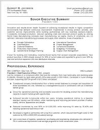 great resumes exles exles of executive resumes venturecapitalupdate