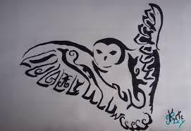 how to draw tribal owl tattoo youtube