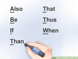 how to capitalize a book title 11 steps with pictures wikihow