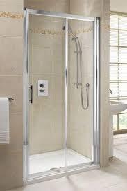 Sliding Shower Door 1200 Center Sliding Shower Door 1200mm Chrome Clear Plumb Center
