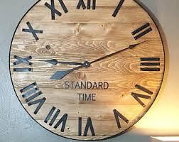 Personalized Wedding Clocks Rustic Wall Clock Etsy