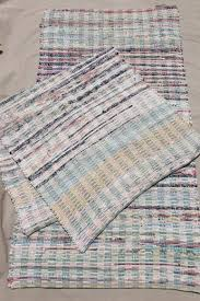 Rag Runner Rug Vintage Country Primitive Cotton Rugs Woven Rag Rug Kitchen Or