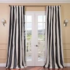 108 Inch Black And White Curtains Faux Silk Taffeta Drapes Foter