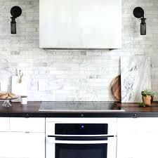 Marble Subway Tile Kitchen Backsplash Subway Tile Kitchen Backsplash Decoration Aspen White Marble