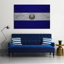 Salvadoran Flag Canvas Wall Art El Salvador Flag U2013 Orgullo Guanaco