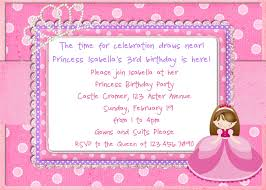 Invitation Card Of Birthday Party Princess Birthday Party Invitations Card Free Invitations Ideas
