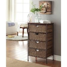 Chest Of Drawers With Wicker Drawers 4d Concepts Farmington Corn Husk Weave 4 Drawer Chest 264070 The