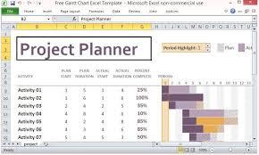 Free Excel Gantt Chart Template Free Project Management Calendar Template Nfgaccountability Com