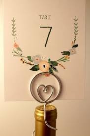 diy table number holders diy wine bottle table numbers craftbnb
